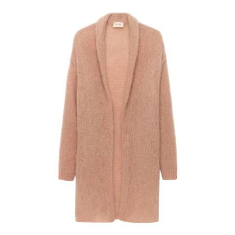 American Vintage Nude Shawl Collar Wool Blend Long Cardigan