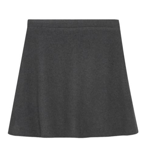 American Vintage Heather Grey A-Line Wool and Cashmere Blend Skirt