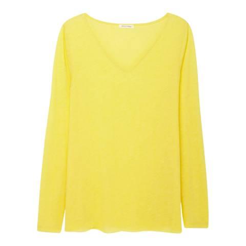 American Vintage Yellow Beniton Cotton Blend Top