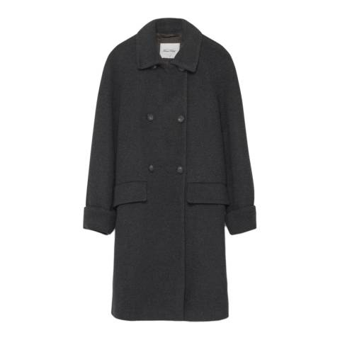 American Vintage Charcoal Chicago Wool Blend Straight Coat