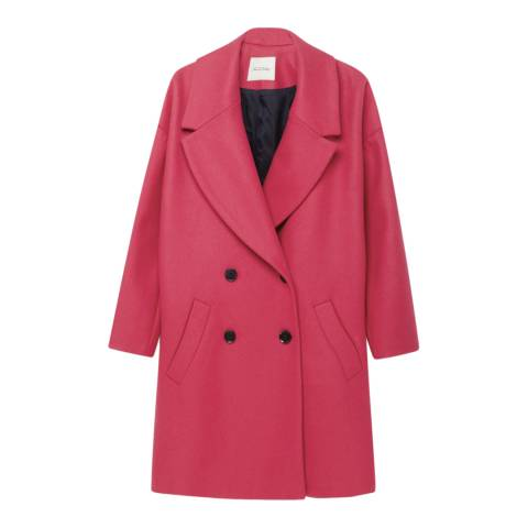American Vintage Framboise Blazer-Neck Double Breasted Coat