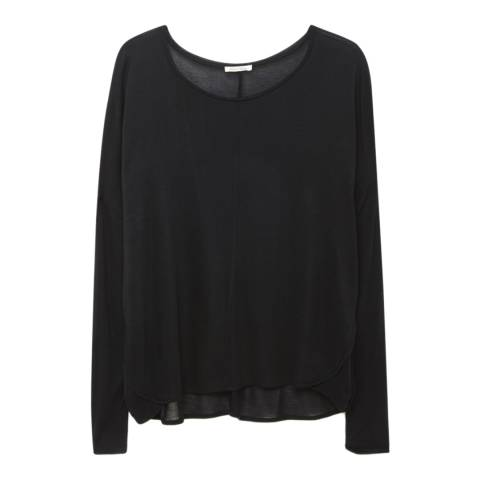 American Vintage Black Slash Neck Modal Top