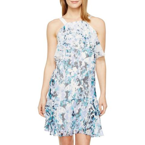 Adrianna Papell Blue Adrianna Papell Multi Floral Cascade Shift Dress