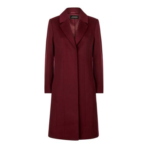 Jaeger Dark Red A-Line Coat