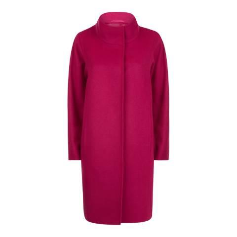 Jaeger Pink Wool Blend Cocoon Coat