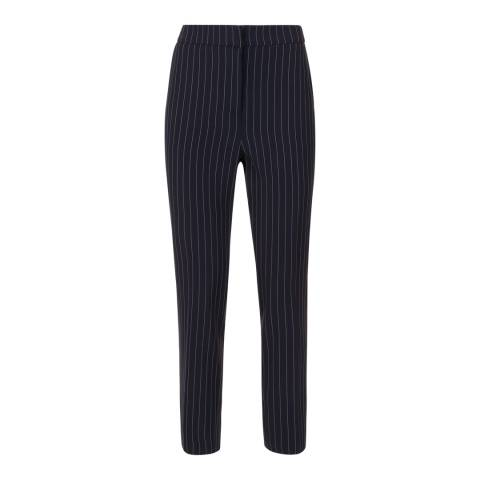 Jaeger Navy/White Pinstripe Trousers