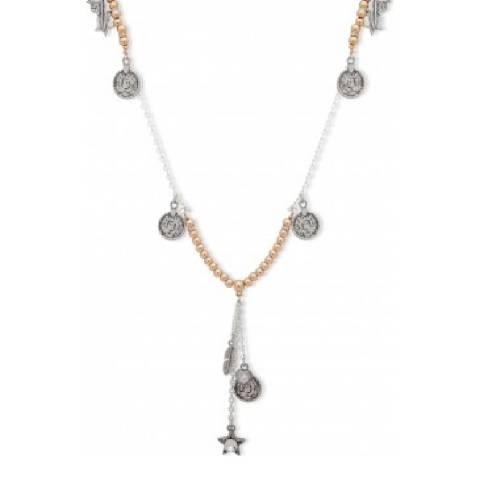 BiBi Bijoux Silver/Gold Charm Necklace