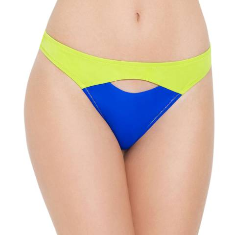 L'Agent by Agent Provocateur Blue and Green Alenya  Bikini Briefs