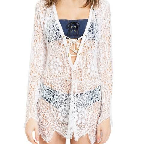 L'Agent by Agent Provocateur White Aaliyah Cover up