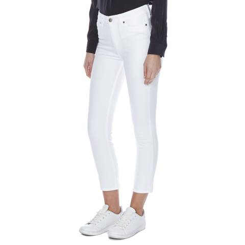 M.i.h Jeans White MiH Niki Skinny Cropped High Rise Jeans