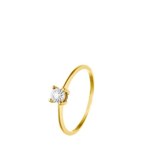 Only You Yellow Gold Solitaire Diamond Ring 0.035Cts