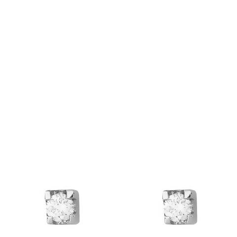 Only You Silver Diamond Stud Earrings 0.05Cts