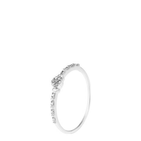 Only You White Gold Solitaire Diamond Ring 0.014Cts