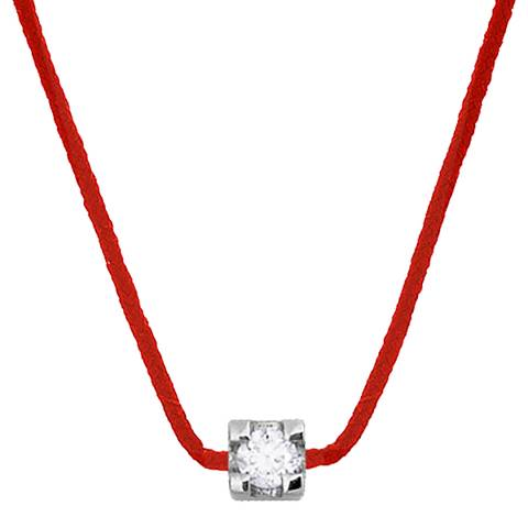 Only You Red Claw Set Real Diamond Necklace 0.03Cts