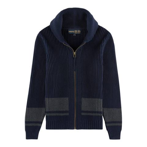 Musto Men's True Navy Usk Shawl Zip Through Knit