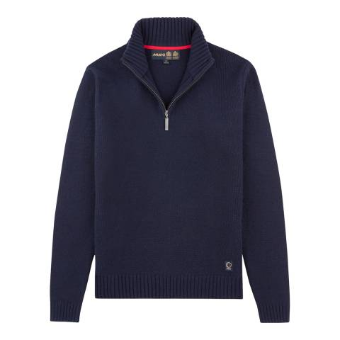 Musto Men's Navy Phoenix 1/2 Zip Neck Knit