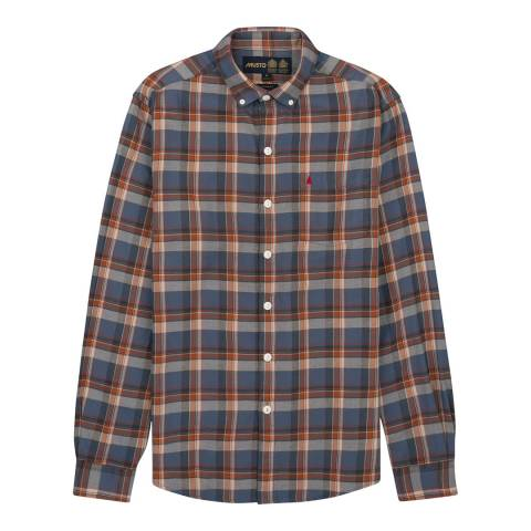 Musto Men's Red/Orange/Blue Plaid Bingley Long Sleeved Shirt