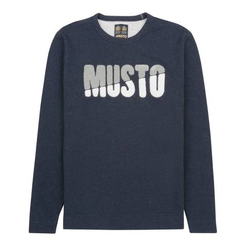 Musto Men's True Navy Marl Warne Crew Sweat