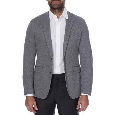 Hackett London Grey Textured Jersey Cotton Jacket