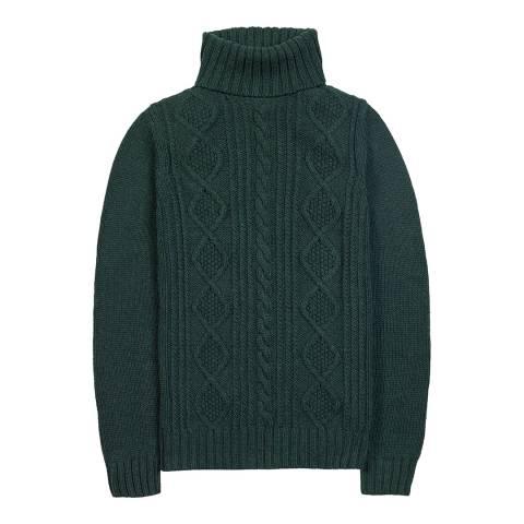Musto Women's Dark Spruce Astley Roll Neck Cotton/Wool Blend Jumper