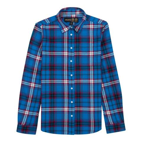 Musto Women's Brilliant Blue Portland Plaid Cotton Shirt