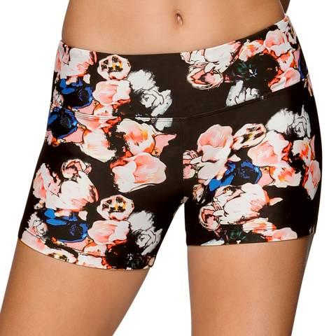 Lorna Jane Multi-Coloured Blossom Yoga Short Tights