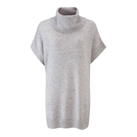 Pure Collection Light Grey Tabard Cashmere Jumper