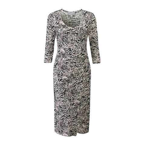Pure Collection Multi Leopard Print V Neck Jersey Wrap Dress