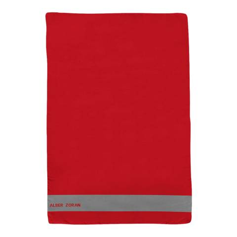 Alber Zoran Red Icon Plain Stripe Scarf