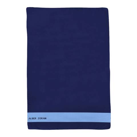 Alber Zoran Navy Icon Plain Stripe Scarf