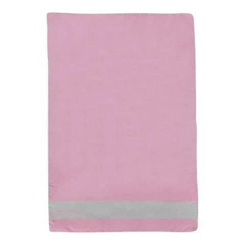 Alber Zoran Pink Icon Plain Stripe Scarf