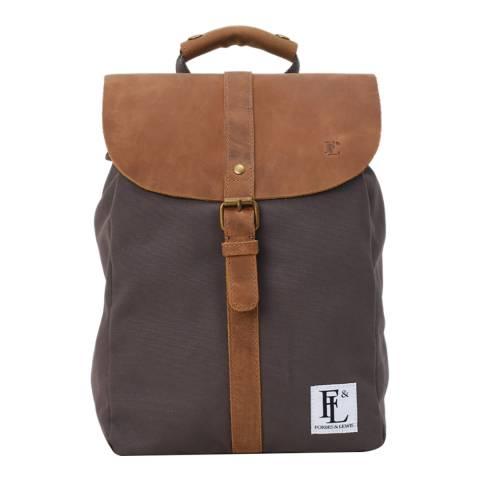 Forbes & Lewis Grey/Tan Littlehampton Backpack