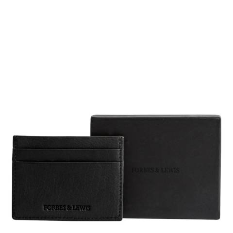 Forbes & Lewis Black Leather Cardiff Card Holder