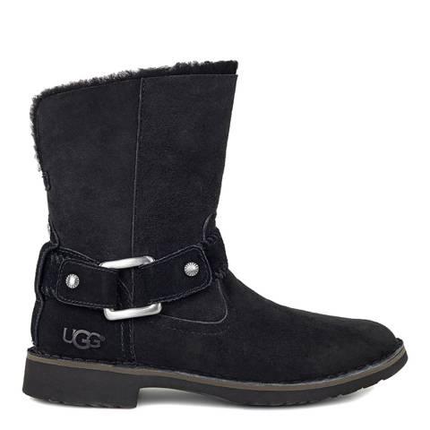 UGG Womens Black Sheepskin Cedric Boots