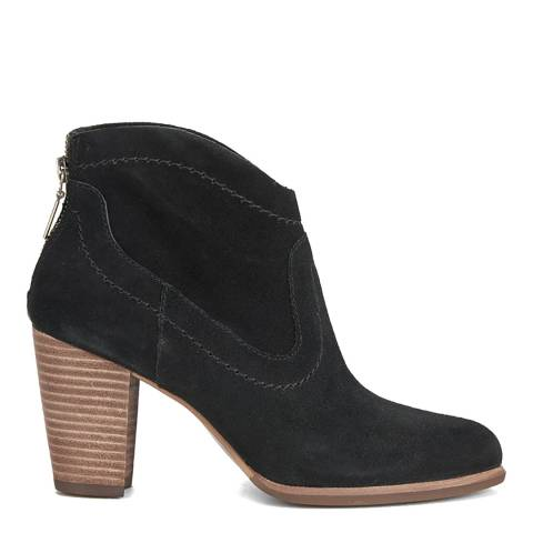 UGG Womens Black Suede Charlotte Ankle Boots