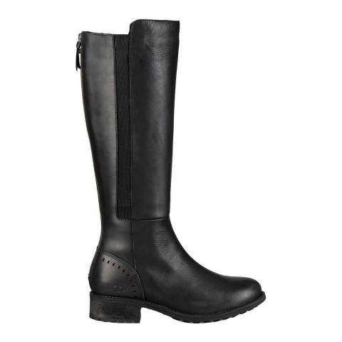 UGG Womens Black Leather Vinson Riding Boots