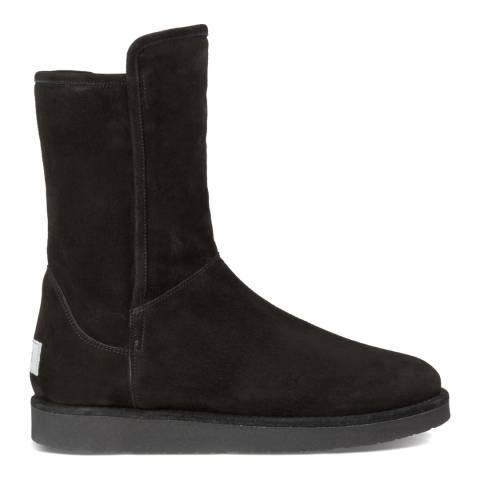 UGG Womens Black Suede Sheepskin Abree Short Boots