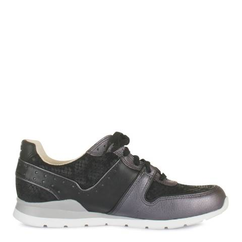 UGG Womens Black/Purple Leather Deaven Trainers