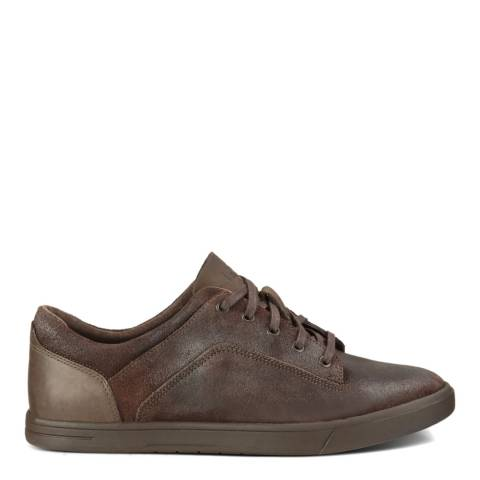 UGG Mens Brown Leather/Suede Bueller Trainers
