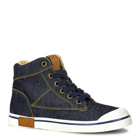 UGG Kid's Navy Damian Denim Style Trainers