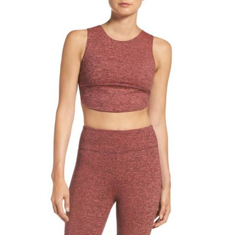 Free People Coral Halo Crop Top
