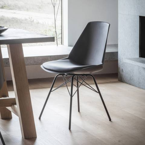 Gallery Set of 4 Black Finchley Chairs