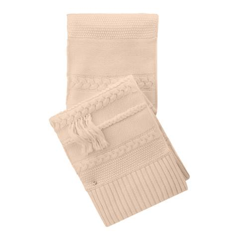 UGG Women's Pale Pink Cable Fringe Scarf