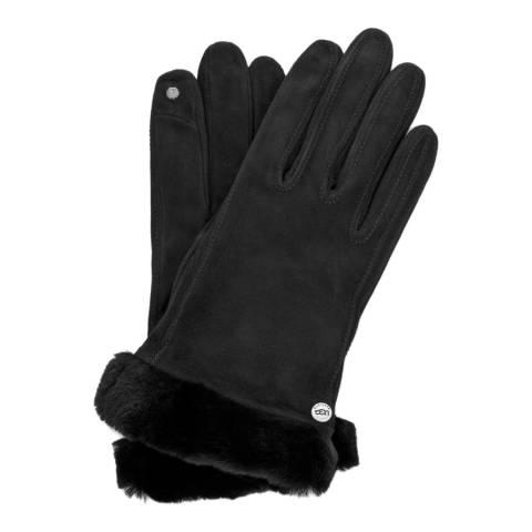 UGG Women's Black Classic Suede Smart Gloves