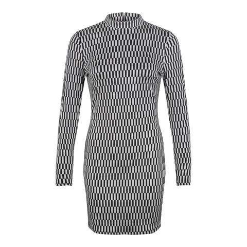 Outline Black/White Berwick Jacquard Dress