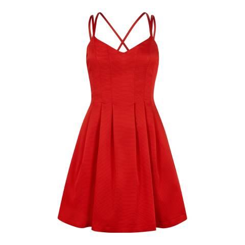 Outline Red Kew Dress