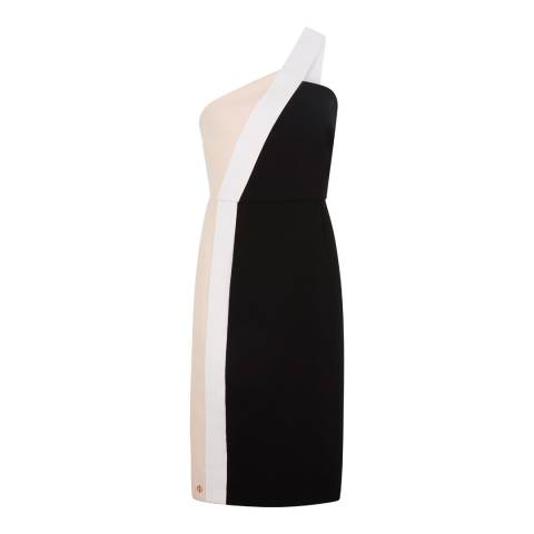 Outline Black/Neutral Trafalgar Dress