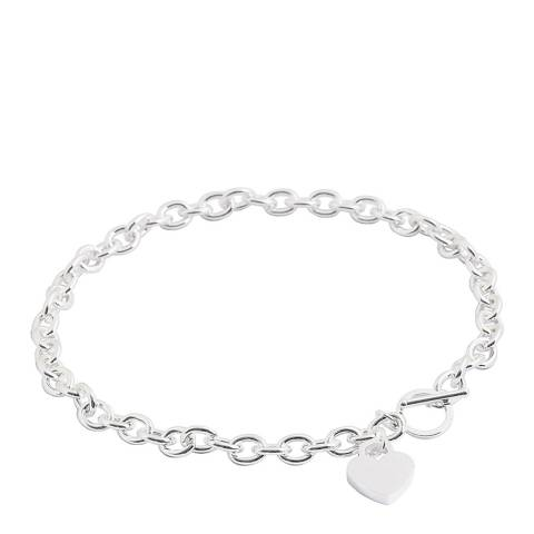 Chloe by Liv Oliver Silver Heart Charm Necklace