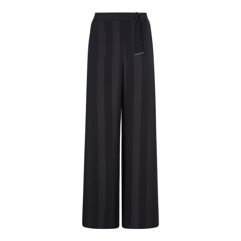 Outline Black Wimbledon Wide Leg Trousers