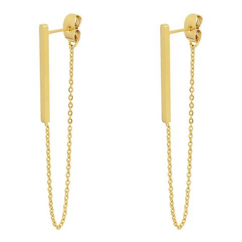Chloe Collection by Liv Oliver Gold Chain Long Drop Earrings
